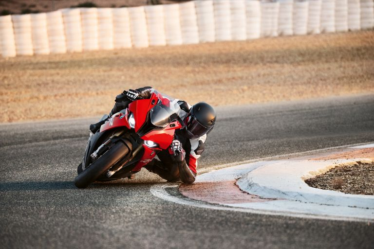 BMW S 1000 RR on race track in curves