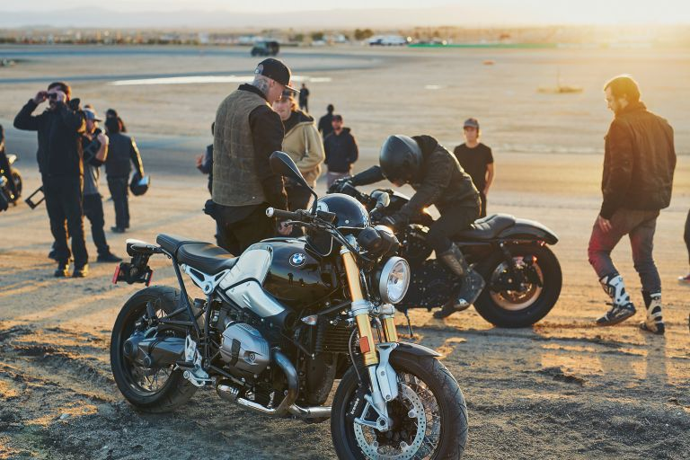 Motorcyclists meet with their BMW motorcycles.