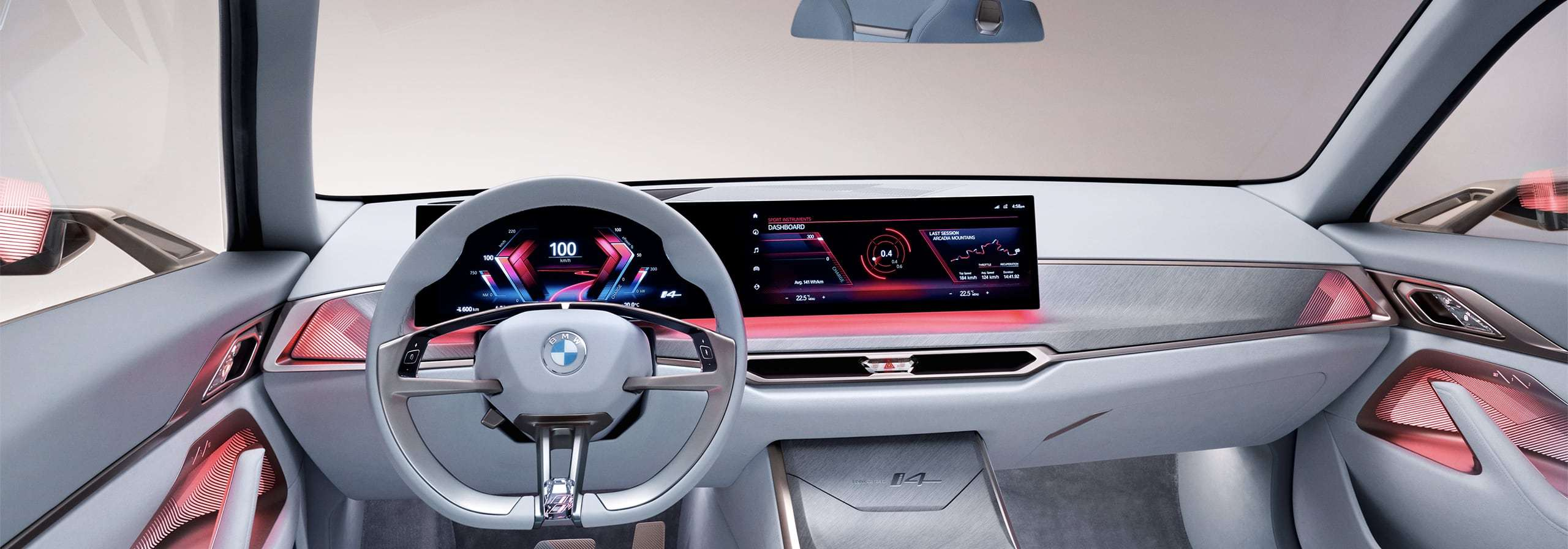 """View of the dashboard in Experience Mode """"Sport"""" BMW"""